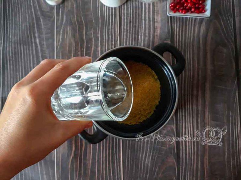 Пшенная каша на молоке - заливаем пшено водой