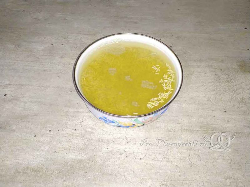 Рисовая каша с тыквой на молоке - запариваем рис
