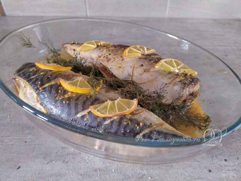 Скумбрия запеченная в духовке в фольге - подача