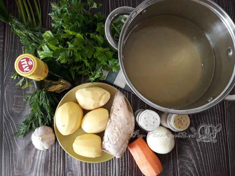 Сырный суп-пюре с курицей и плавленным сыром - ингредиенты