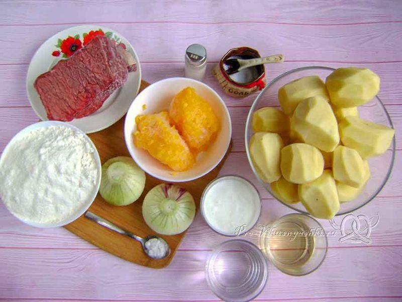 Вак балиш с мясом и картошкой - ингредиенты