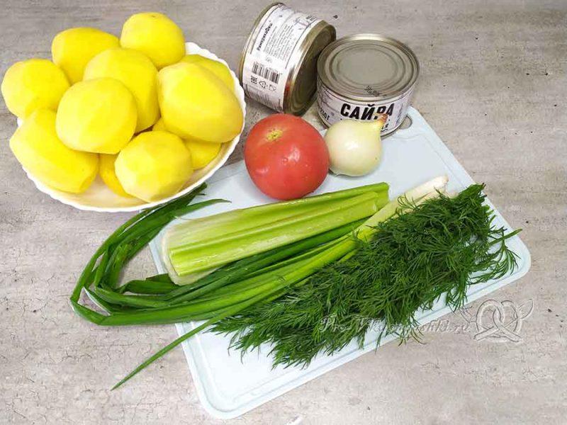 Суп из консервированной сайры - ингредиенты