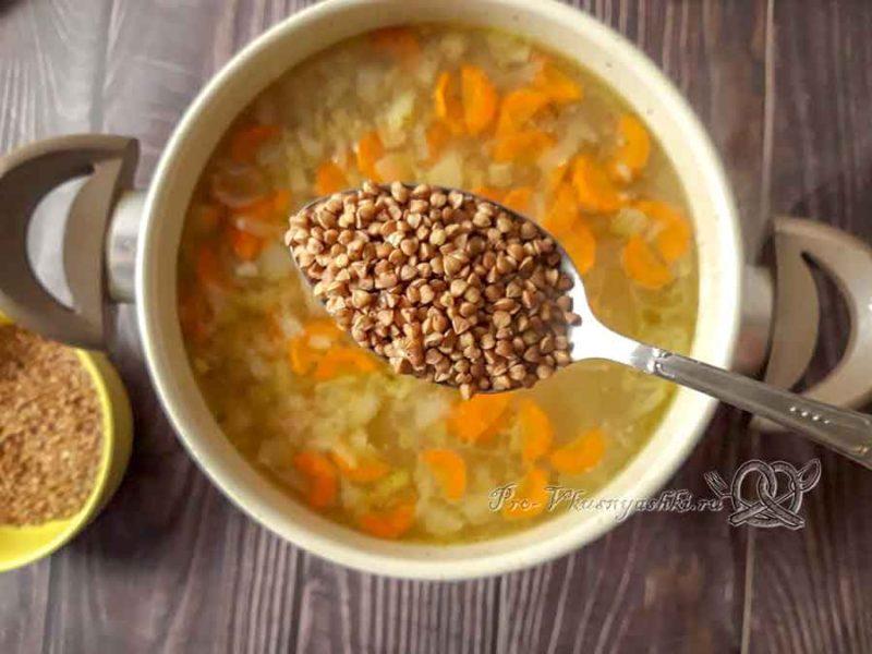Суп из куриных сердечек - добавляем гречку в суп