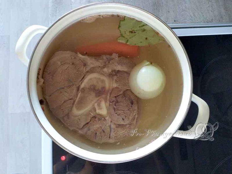Суп на говяжьем бульоне с фасолью - варим бульон