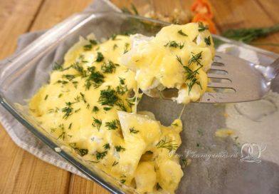Топинамбур запеченный в духовке в сметанном соусе - подача