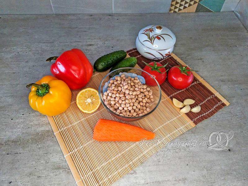 Хумус из нута - ингредиенты