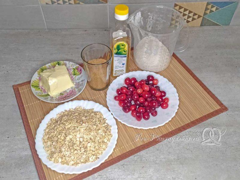 Овсяное печенье с клюквой - ингредиенты