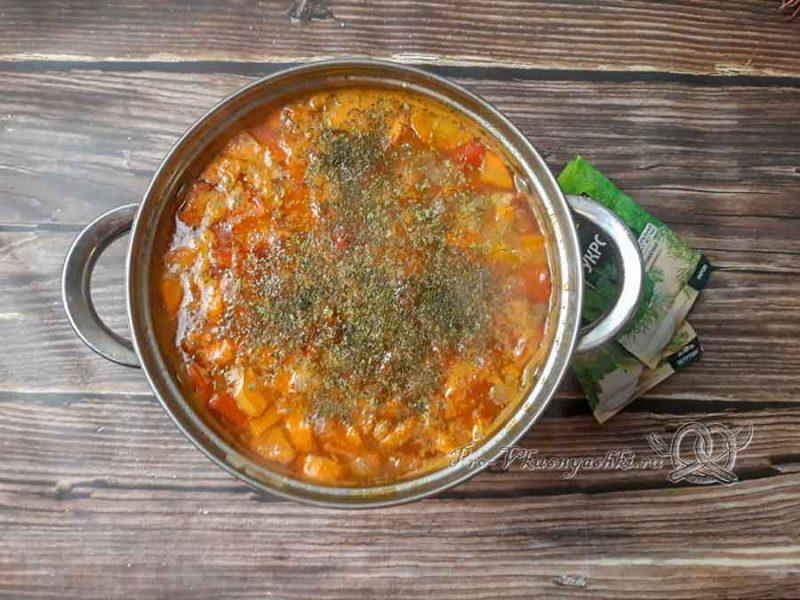 Суп-гуляш по-венгерски - добавляем зелень
