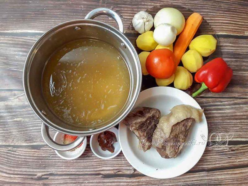 Суп-гуляш по-венгерски - ингредиенты