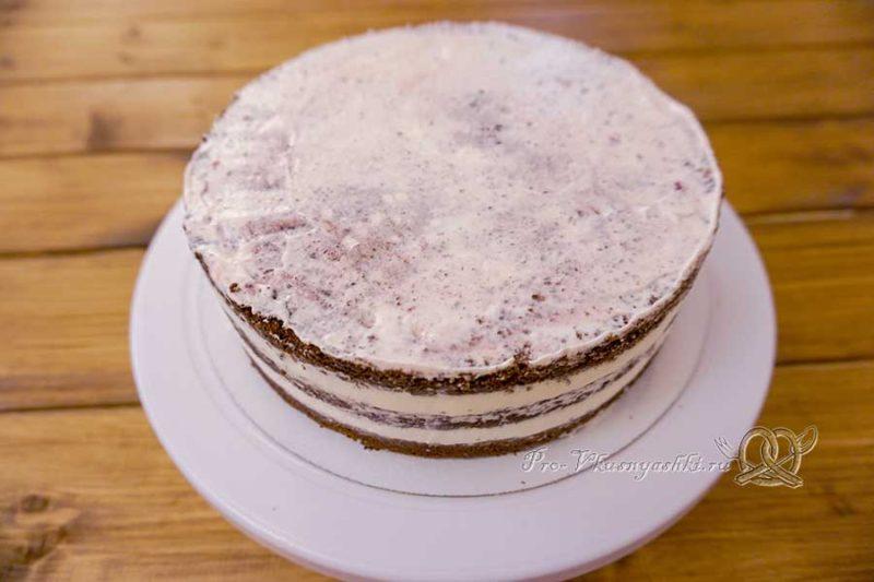 Торт черный лес с вишней - готовый торт