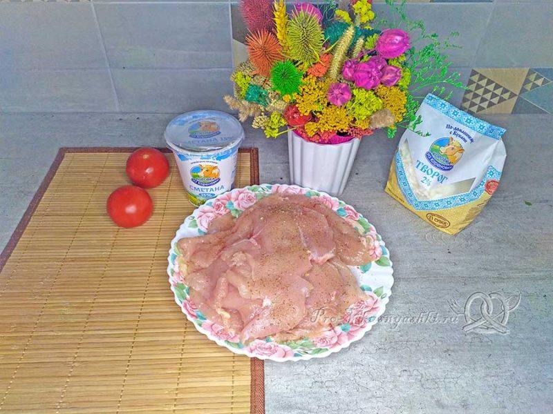 Куриный рулет с творогом - маринуем мясо