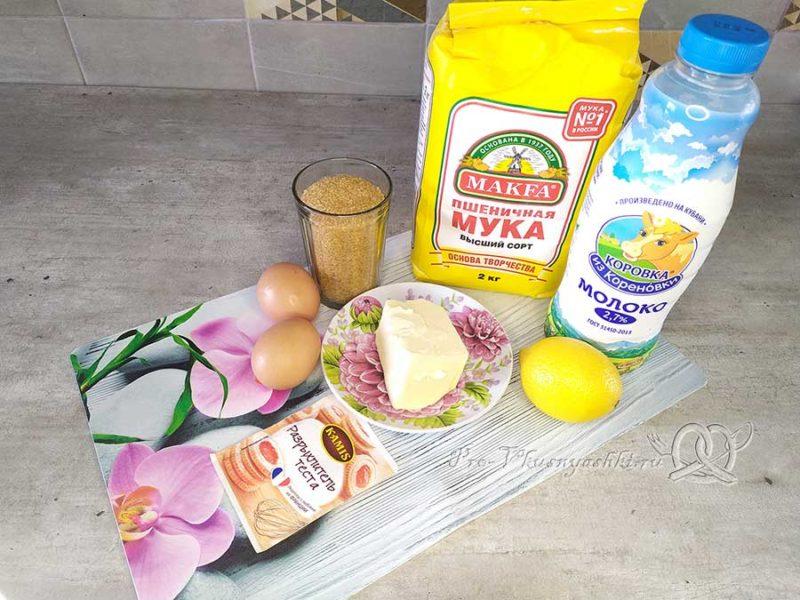Лимонный пирог - ингредиенты