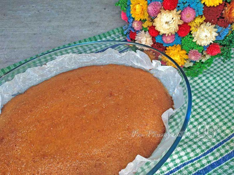 Лимонный пирог - подача