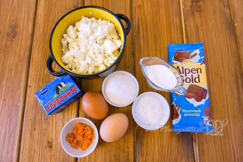 Домашние творожные сырки в шоколаде - ингредиенты