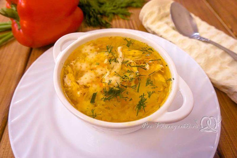 Куриный суп со звездочками - подача