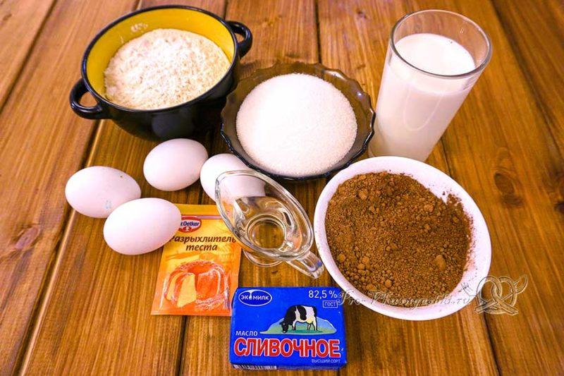 Шоколадный бисквит для торта - ингредиенты
