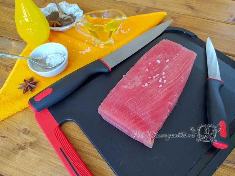 Стейк из тунца на сковороде гриль - ингредиенты