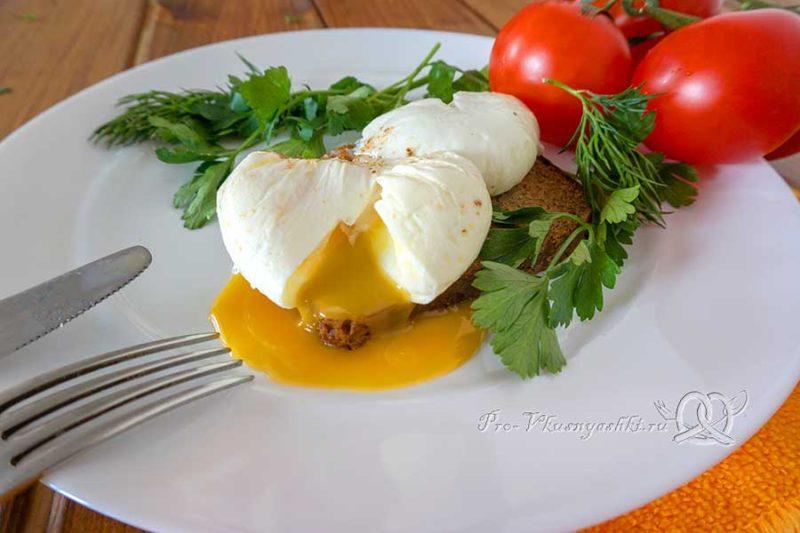 Как приготовить яйца пашот в пакете - подача