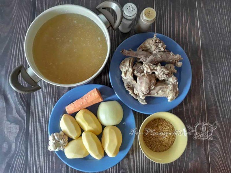 Куриный суп с булгуром - ингредиенты