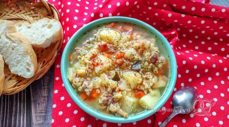 Куриный суп с булгуром - подача