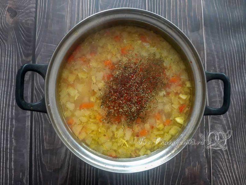 Рисовый суп с курицей - добавляем зелень