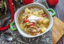 Рисовый суп с курицей - подача