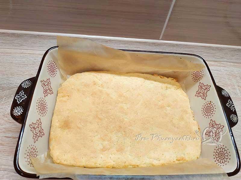 Домашние ванильные пирожные - готовый бисквит