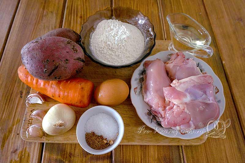 Куриный суп с клецками - ингредиенты