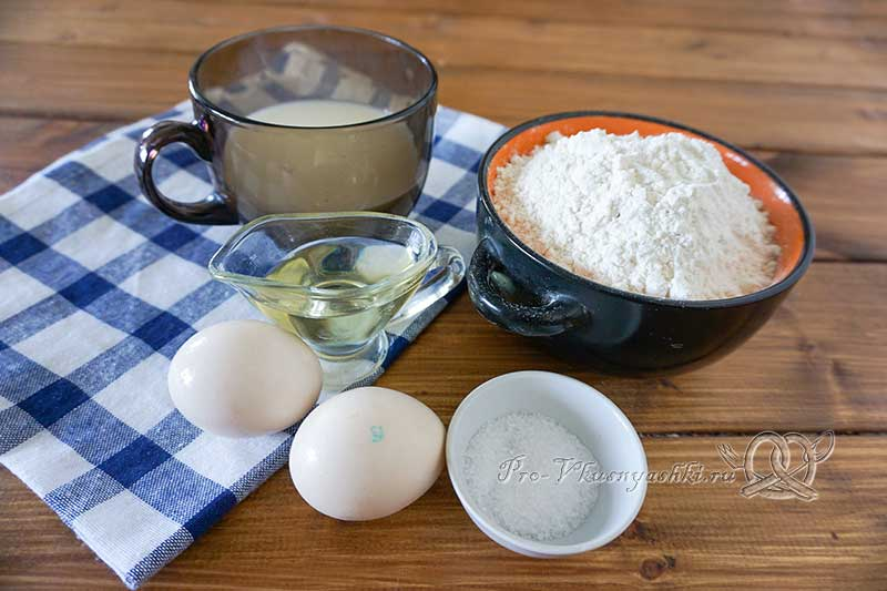 Сдобное бездрожжевое тесто - ингредиенты