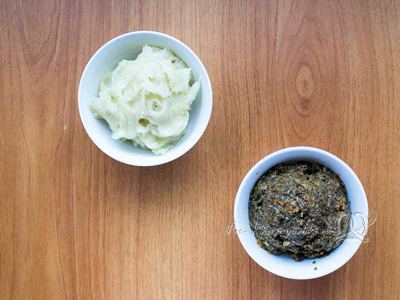 Суп-пюре из шампиньонов - измельчаем картофель