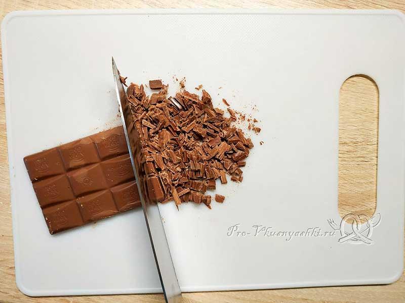 Домашнее овсяное печенье без муки - измельчаем шоколад