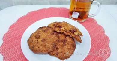 Домашнее овсяное печенье без муки - подача