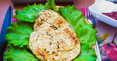 Куриное филе в гранатовом соусе на сковороде - готовое блюдо