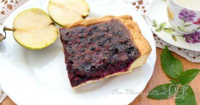 Черничный пирог со сметаной - готовый пирог