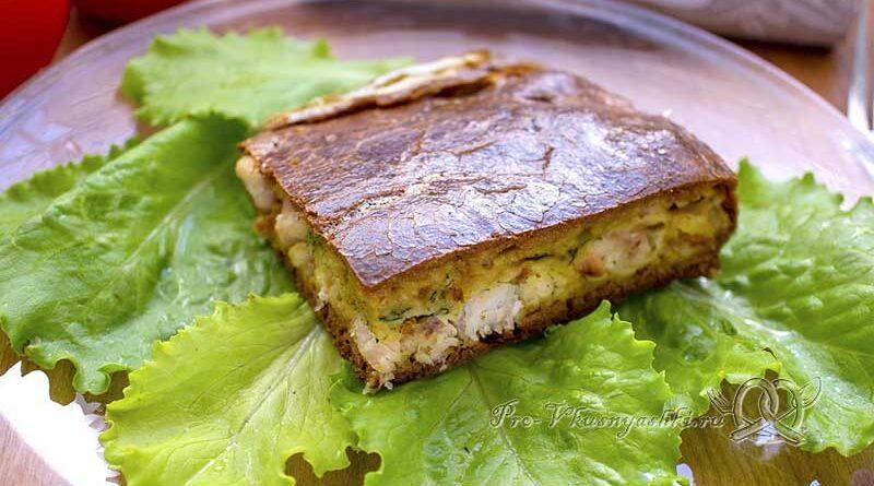 Пирог с куриным филе в духовке - готовый пирог