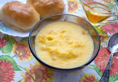 Пшенная каша с тыквой на молоке - готовое блюдо