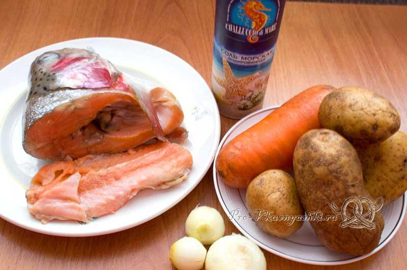 Рыбный суп из свежей форели - ингредиенты