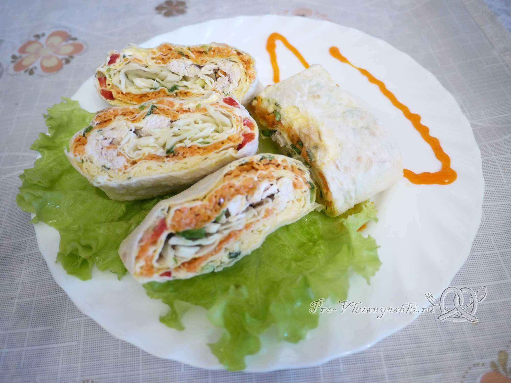 Лаваш с корейской морковью и курицей рецепт пошагово