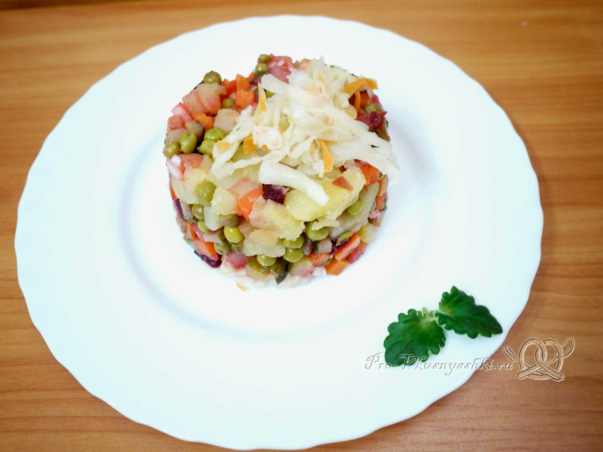 Винегрет с квашеной капустой рецепт пошагово фото